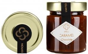 Подарок Карамель шоколадная Spell с дроблеными какао-бобами 220 г