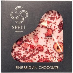 Подарок Шоколад Spell из белого шоколада с клюквой вишней и малиной 85 г