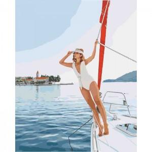 Картина по номерам Идейка Люди 'Прогулка на яхте 2' 40х50 см (KHO4525)