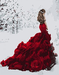 Картина по номерам Идейка Люди 'Снежная королева' 40х50 см (KHO4540)