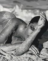 Картина по номерам Идейка Люди 'Соблазн 2 с серебристой краской' 40х50 см (KHO4537)