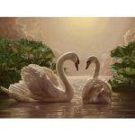 Картина по номерам Идейка 'Пара лебедей' (KHO301)