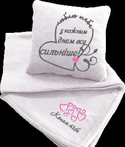 фото Подарочный набор: подушка + плед 'Люблю тебе' 23 #3