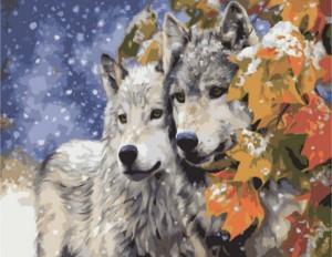 Картина по номерам Идейка Животные, птицы 'Пара волков' (KHO2434)