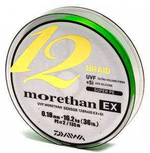 Шнур Daiwa Morethan 12BEX+Si 0.14mm 12.2kg 135m LG (12695-014)