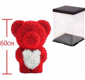 фото Мишка из роз c сердцем 60см UFT Bear Flowers UFT BS3 Red (BS3Red) #2