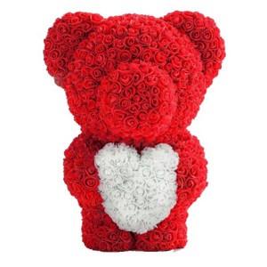 Подарок Мишка из роз c сердцем 60см UFT Bear Flowers UFT BS3 Red (BS3Red)