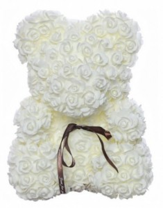Подарок Мишка из роз UFT Bear Flowers UFT BB1 White (BB1)