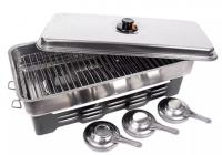 Коптилка Fladen Smoker cooker with 3 burners 50x24,5x10,2 (36-1229)