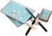 Подарок Набор для суши 'Сакура на голубом фоне', 2 персоны (DN32818)