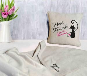 фото Подарок к 8 марта: подушка с пледом 'Моей Кошечке' + Шоколадный набор 'Люблю тебя больше, чем...' (суперкомплект) #3