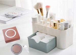 Подарок Подарок к 8 марта: Органайзер для косметики + Карманное зеркало для макияжа с LED подсветкой (суперкомплект)