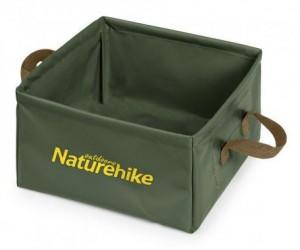 Ведро складное Naturehike Square bucket 13л army green (NH19SJ007)