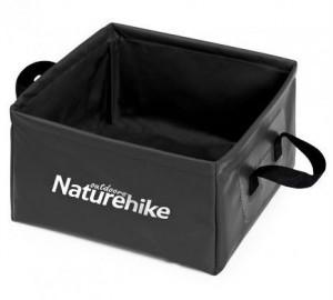 Ведро складное Naturehike Square bucket 13л black (NH19SJ007)