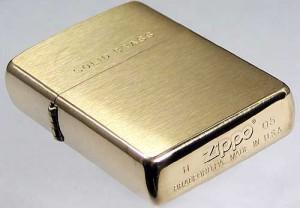 фото Зажигалка Zippo 'BR Fin Solid Brass' (204B) #3