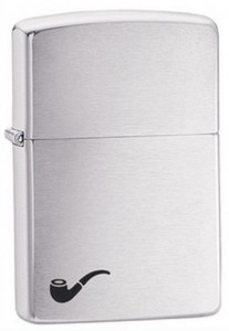 Зажигалка Zippo 'Brush Fin Pipe Lighter' (200PL)
