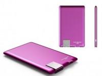 Внешний аккумулятор Xoopar 'Power Card, фуксия' (XP61057.24RV)
