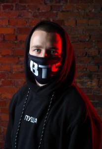 фото Маска на лицо Пушка Огонь 'BTS', черная #3
