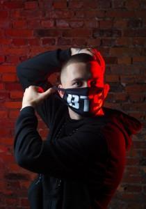 фото Маска на лицо Пушка Огонь 'BTS', черная #5
