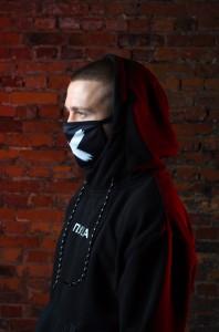 фото Маска на лицо Пушка Огонь 'Cross', черная #7