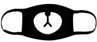 Подарок Маска на лицо Пушка Огонь 'Панда', черная