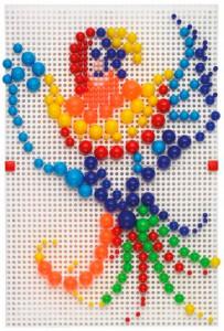 фото Мозаика набор Quercetti 'Узоры 300 шт + 2 доски' (0851-Q) #3