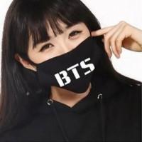 Подарок Маска на лицо Пушка Огонь 'BTS', черная