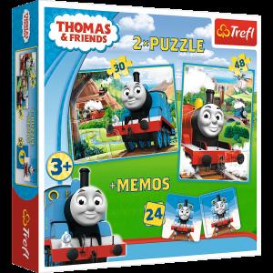 Пазл Trefl 'Томас и его друзья' 2в1 30-48 элементов + 24 мемо (TFL-90602)