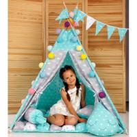 Игровая палатка - вигвам 'Бонбон - Королевский мята' (010117)