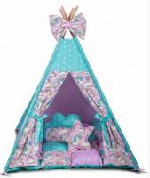 Игровая палатка - вигвам 'Единороги с мягким ковриком' (010144)