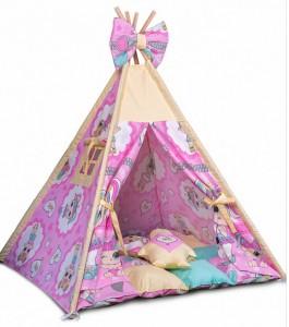 Игровая палатка - вигвам 'Куклы Лол - Lol с подушками' (010127)