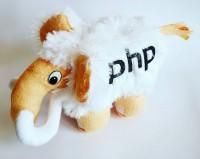 Подарок Мягкая игрушка 'Мамонт PHP', белый