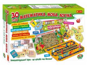Настільна гра Ранок '30 ігор. Математика, мова, логіка' (12109100У)
