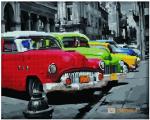 Картина по номерам и алмазная мозаика 2 в 1. Rainbow Art 'Парад машин' (GZS1081-RA)