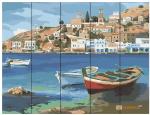 Картина по номерам на дереве. Rainbow Art  'Лодки у причала ' (RA0024-RA)