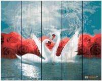 Картина по номерам на дереве. Rainbow Art 'Танец лебедей' (GXT29774-RA)
