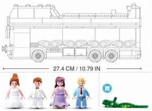 фото Конструктор Sluban 'Свадебный автобус' (M38-B0769) #5