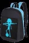Рюкзак с LED дисплеем LED Bagpack, голубой