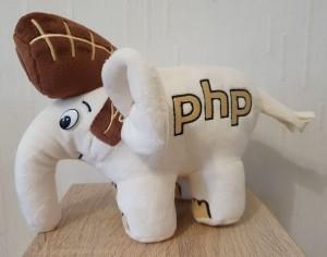 Подарок Мягкая игрушка 'Слон PHP', белый