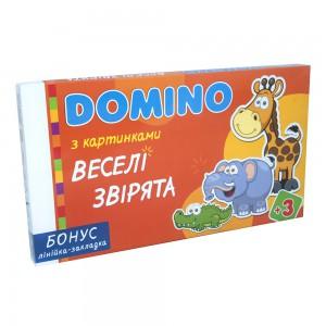 Доміно Strateg 'Веселі звірята', 28 елементів (30665)