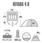 фото Палатка High Peak Nevada 4.0 (Nimbus Grey) (928126) #8