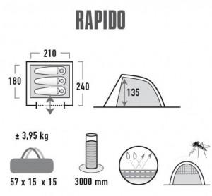 фото Палатка High Peak Rapido 3 (Dark Green/Light Green) (928140) #6