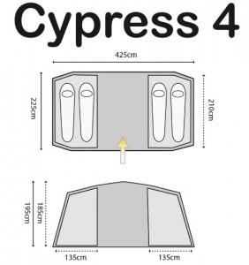 фото Палатка Highlander Cypress 4 Teal (927930) #8