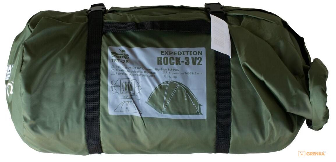 Палатка Tramp Rock 3 v2 в свернутом виде