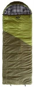 Спальный мешок-одеяло Tramp Kingwood Regular левый, темно-оливковый/серый, 220/80 (TRS-053R-L)