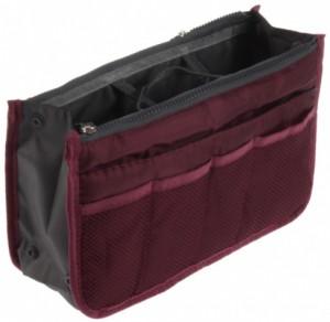 Подарок Большой органайзер для вещей Bag in Bag maxi, бордовый (100577)