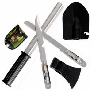 Набор походный 5 в 1 'Лопата, пила, топор, нож, открывалка' (529)