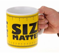 Подарок Чашка гигант 'Size matters' (111116)
