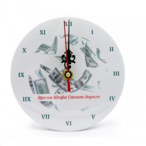 Подарок Часы настольные 'Время шефа стоит дорого' (110675)