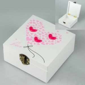 Подарок Деревянная шкатулка Lefard 'Люблю' (111309)